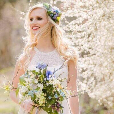 Bruidsboeket Spring Blue