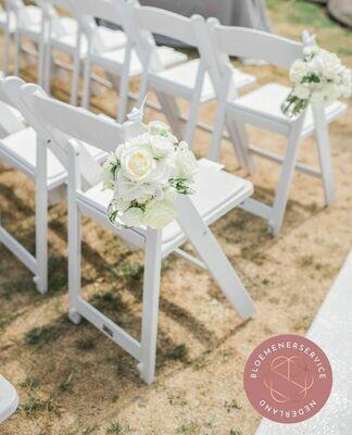 Stoeldecoratie white blossom XL