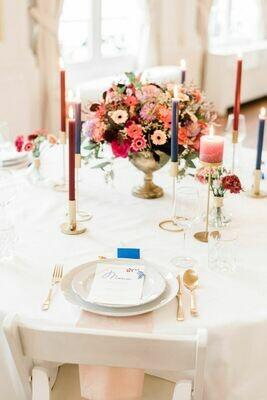Prachtige goudkleurige luxe bokalen voor op tafel om je bloemen in te doen.