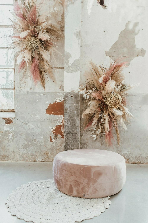 Prieel bloemstuk Old Pink 1