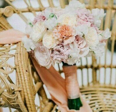 Bruidsboeket Garden Roses