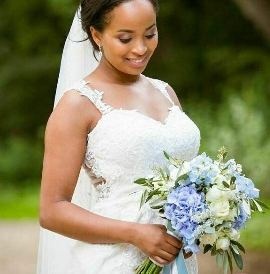 Bruidsboeket Sunny Blue