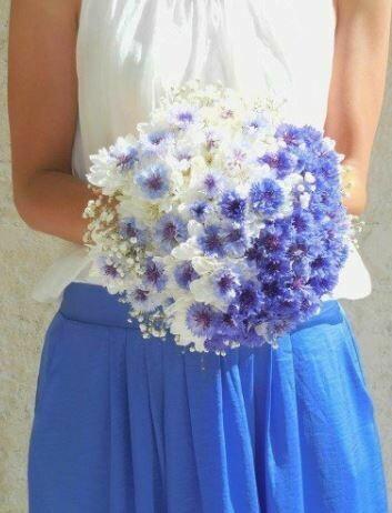 Bruidsboeket Blue Summer