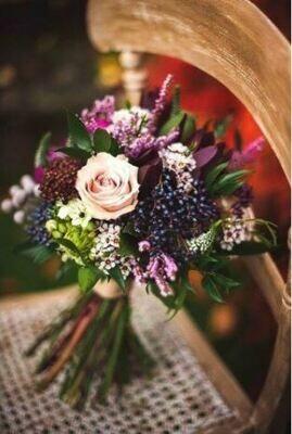 Bruidsboeket Purple Pastries