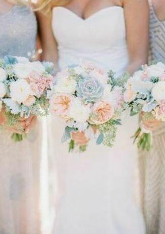 Bruidsboeket Sweet Pastels