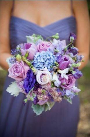 Bruidsboeket Purple Pallets