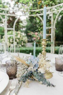 Light blue collectie: Bruidsmeisjes boeket of tafelboeketje