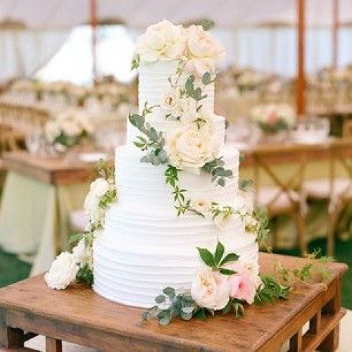 Bruidstaart bloemen Simplicity