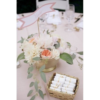 Dinertafel bloemstuk
