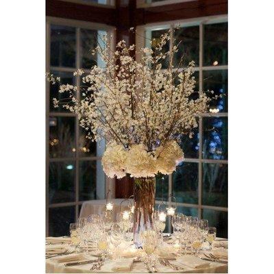 Tafel decoratie zijde bloemen