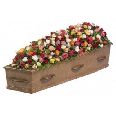 Kistbedekking klassiek rozen bont