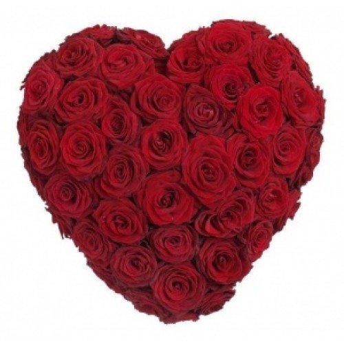 Hartvorm vol rood