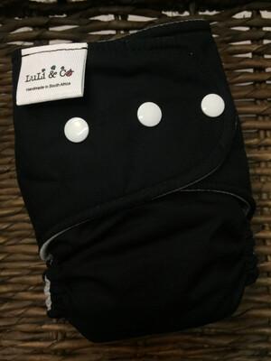 Snap In One-Black (Newborn)