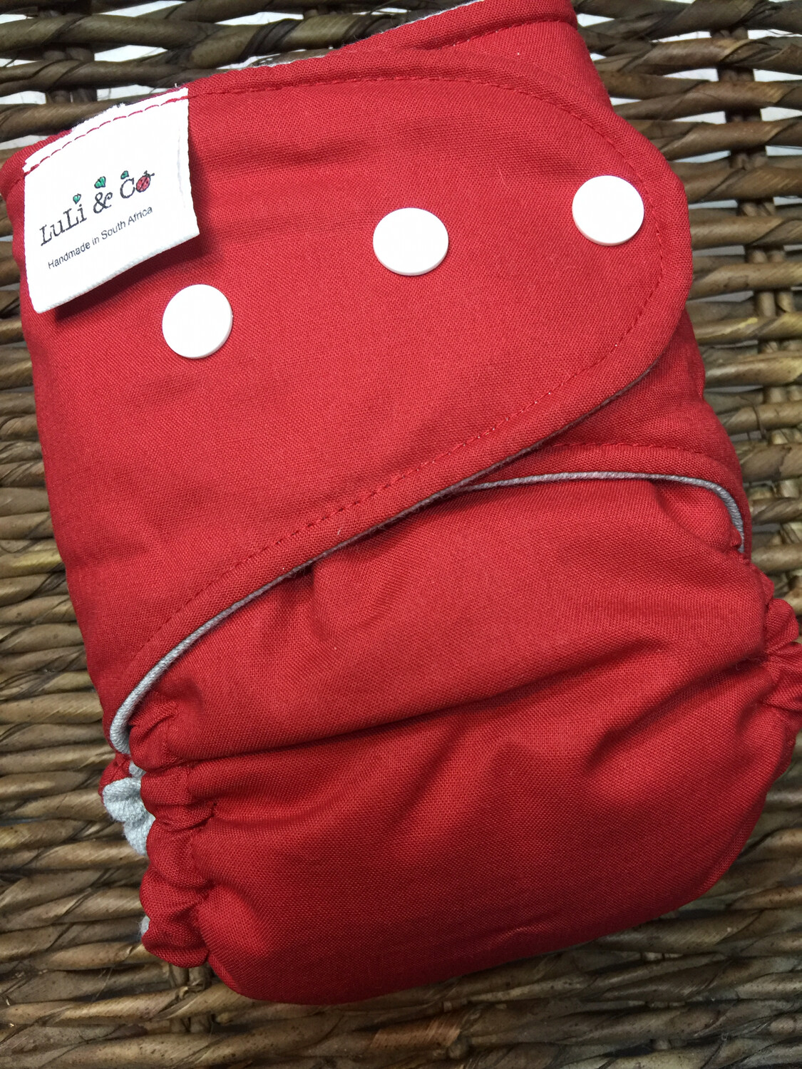 Snap In One-Deep Red (Newborn)