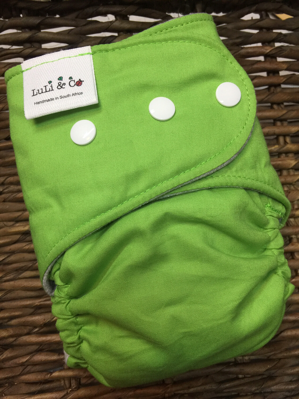 Snap In One-Apple Green (Newborn)