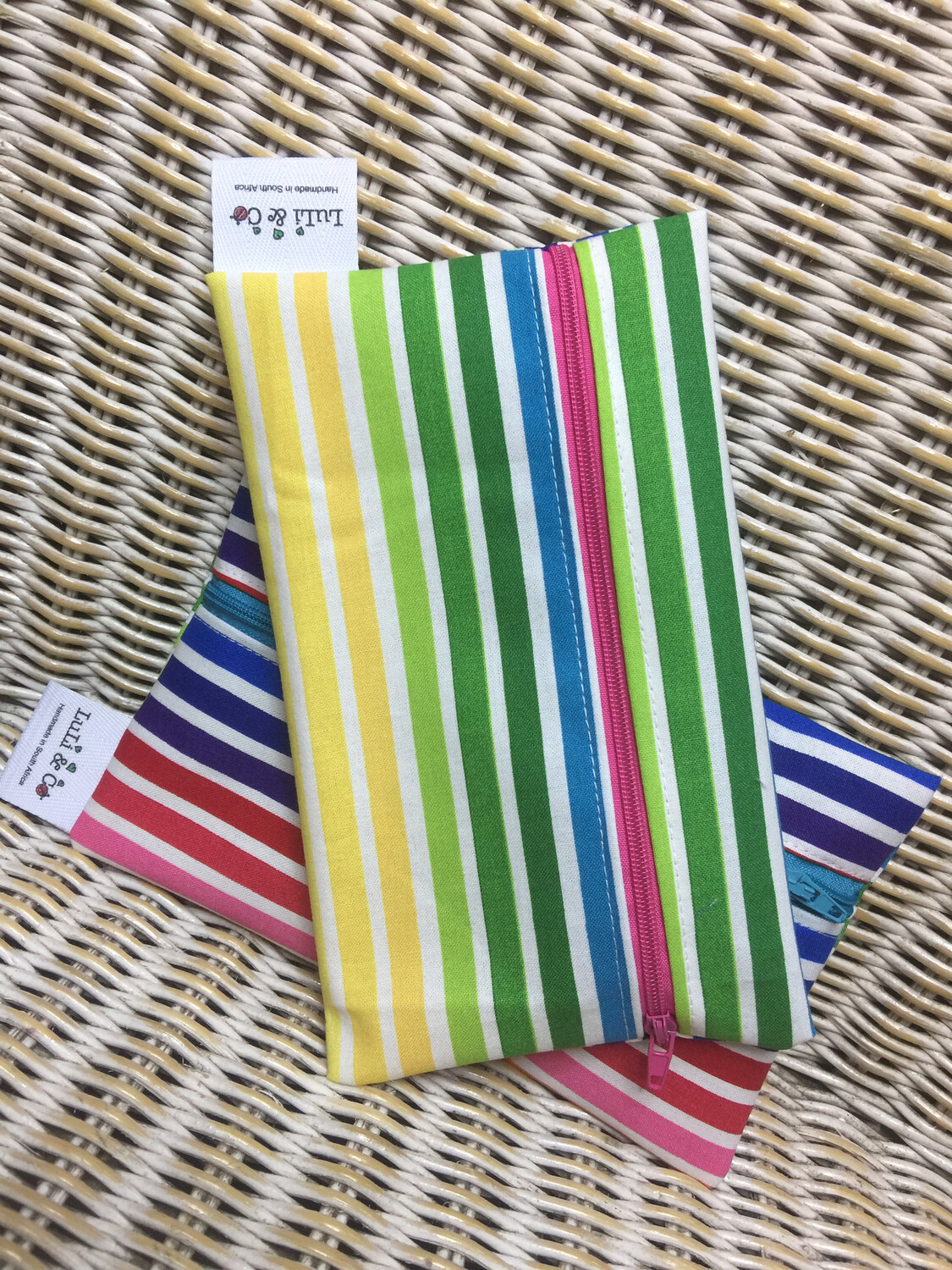 Ladycloth Wetbag-Rainbow Stripes