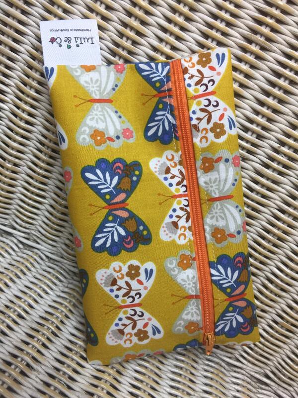 Ladycloth Wetbag-Mustard Butterflies