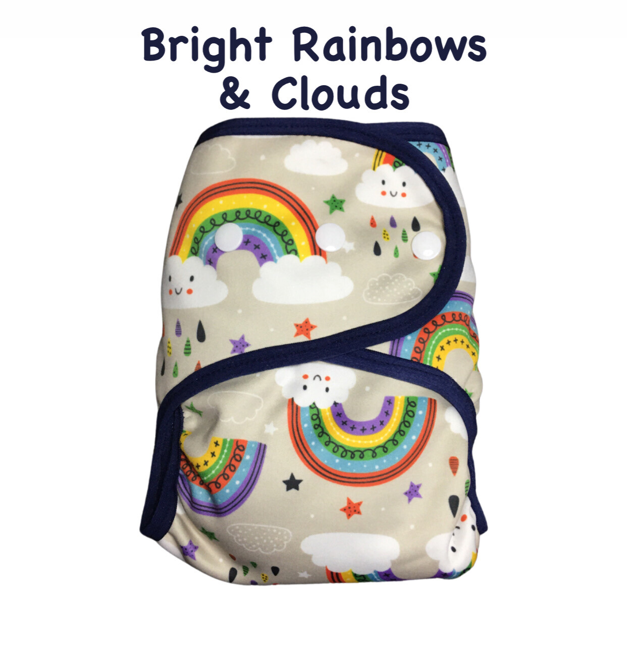 SOFTSHELL COVER - BRIGHT RAINBOWS & CLOUDS