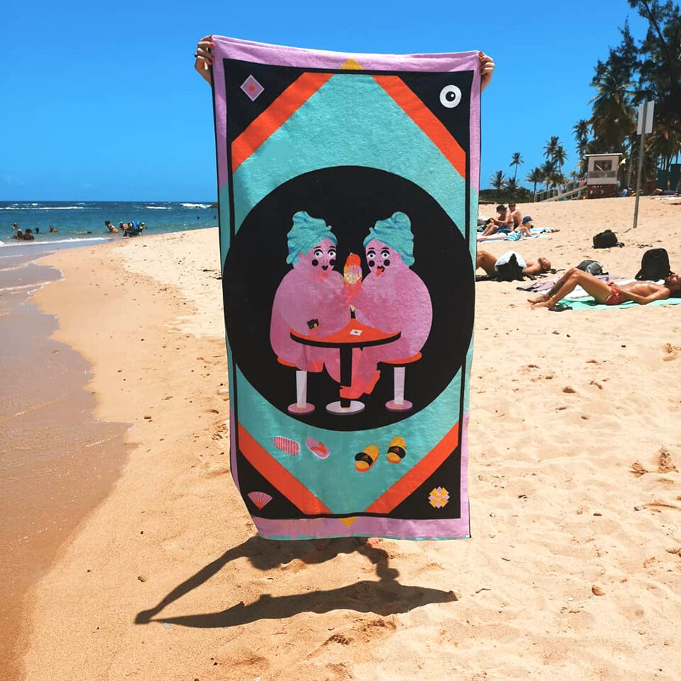 DOUBLE TROUBLE BEACH TOWEL