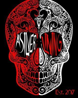 Red/White Skull T
