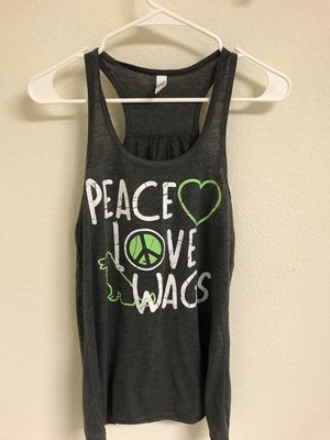 Women's Peace Love Wags Flowy Tank