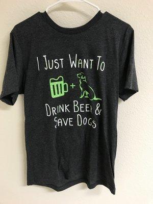 Men's Drink Beer Save Dogs T-shirt