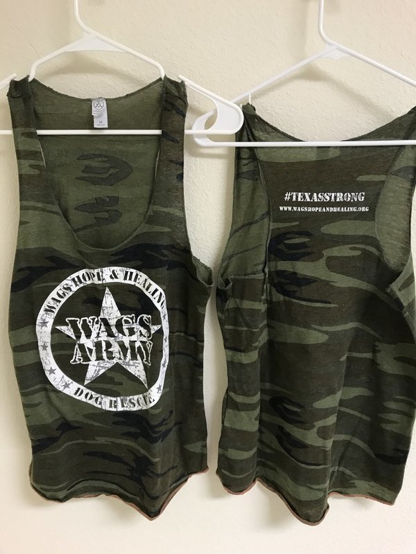 Women's Wags Army Camouflage Tank Top
