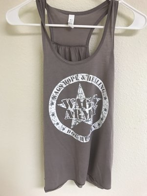 Women's Wags Army Flowy Tank Top