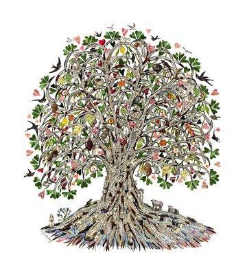 Tree of Life Blank greetings card
