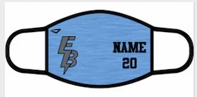 2 Pack! Custom Masks Including Player Name + Number