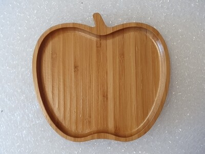 Bamboo Apple shaped tray for kitchen decor