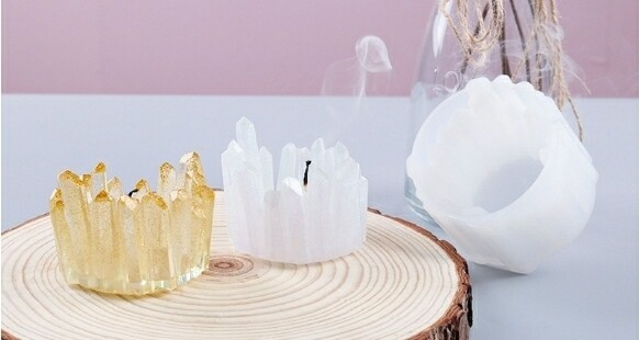 Crystal point  CANDLE HOLDER SILICONE MOLD