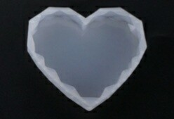 GEOMETRIC HEART SHAPED COASTER  SILICONE MOLD