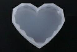 IRREGULAR HEART SHAPED COASTER  SILICONE MOLD