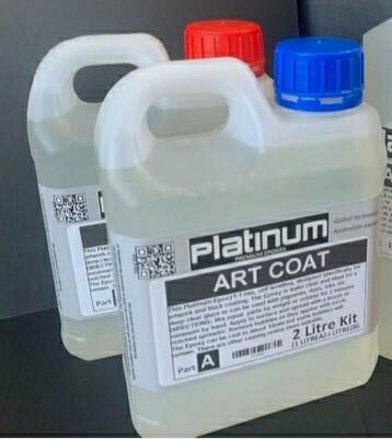ART COAT Epoxy Resin by Platinum 3 litres 1:1 ratio