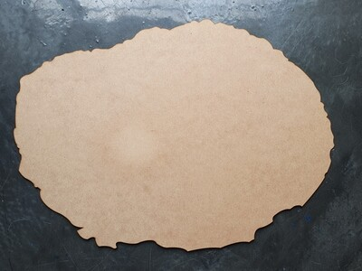 MDF GEODE SHAPED BOARD 35cm x 50cm