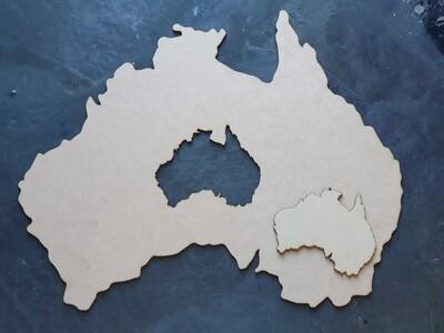 AUSTRALIA SHAPED MDF PLACE MAT/GEODE 35x45x0.3cm/...BONUS AUSTRALIA SHAPED COASTER