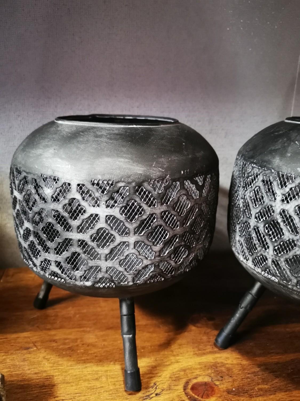 Metalen sfeerlicht grijs