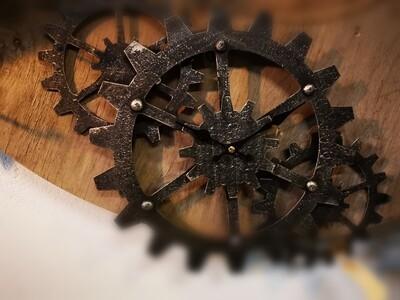 Wandklok model tandwiel