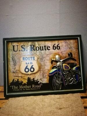Schilderij Motor US Route 66