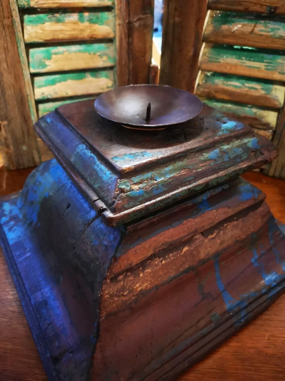Grote vierkante houten poer assorti