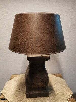 Tafellamp choco  incl luxe kap donker