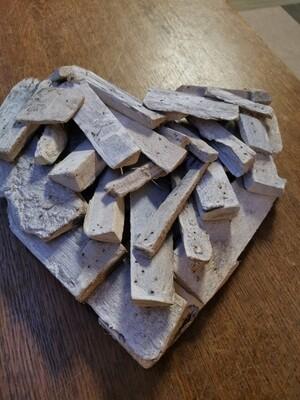 Driftwood hart White wash