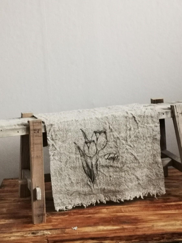 Shabby doek Tulp 30x45cm