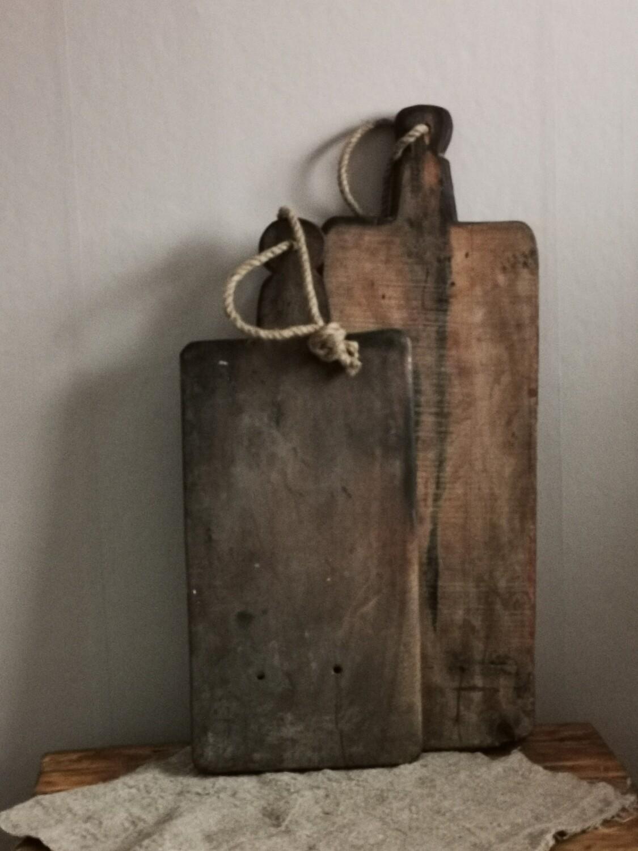 Oude houten snijplank