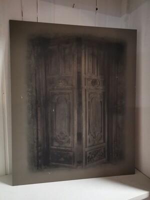 Schilderspaneel oude deur