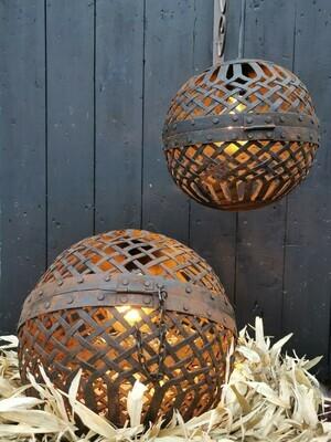 Hangende metalen bal lamp S