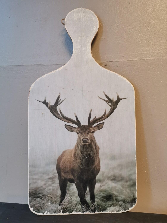 Snijplank schilderij hert