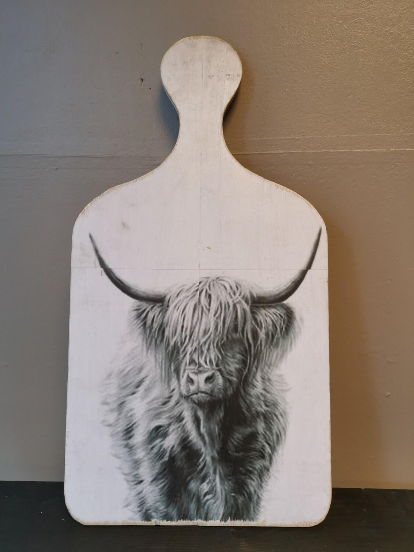 Snijplank schilderij hooglander