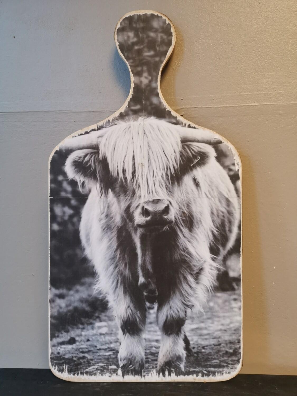 Snijplank schilderij Schotse hooglander
